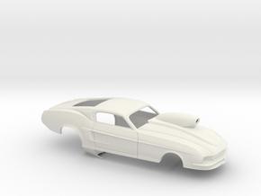 1/25 67 Pro Mod Mustang W Snorkel Sm Wheel Well in White Strong & Flexible