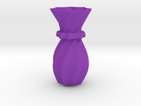 Decorative Vase in Purple Processed Versatile Plastic