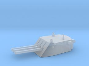1/500 Scale 6 In 47 Cal Triple Gun in Smooth Fine Detail Plastic