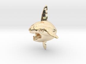 Sharpedo Key Charm in 14k Gold Plated Brass