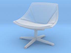 Miniature Space Lounge Chair - JJürgen Laub & Mark in Smooth Fine Detail Plastic: 1:24