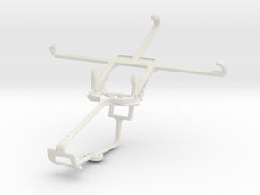 Controller mount for Xbox One & Panasonic Eluga Tu in White Natural Versatile Plastic