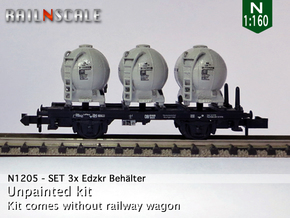 SET 3x Edzkr 571 Behälter (FLM/MTX) (N 1:160) in Frosted Ultra Detail
