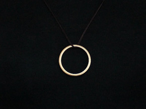 Gechit Pendant (#2278) in Polished Gold Steel