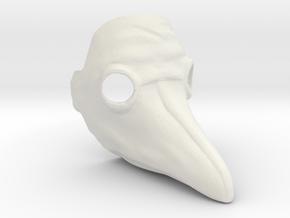 PrintMaskmale2 in White Natural Versatile Plastic