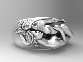 Lovers Ring Sz 6.5 in Natural Silver
