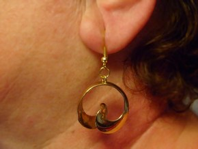MobTor Earrings: the half Mobius Torus Shell in 14k Gold Plated