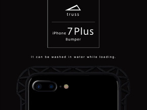 iPhone7/8 Plus​​ Bumper 「truss」 in Black Natural Versatile Plastic