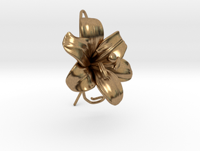 AirCharm Lily Flower - Left in Natural Brass