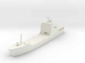 1/700 Scale Chinese Type 072A LST in White Natural Versatile Plastic