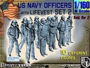 1-160 USN Officers KAPOK Set2 in Frosted Extreme Detail