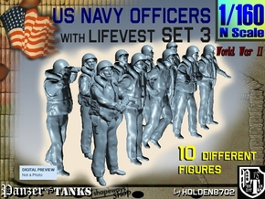 1-160 USN Officers KAPOK Set3 in Smoothest Fine Detail Plastic