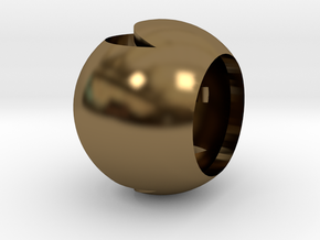 Moon in Polished Bronze