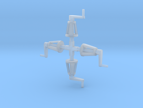 MR Water Column Control Valve (x4) 4mm Scale in Smooth Fine Detail Plastic