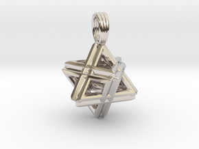 QUAD MERKABAH in Rhodium Plated