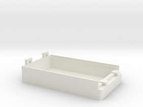SmartBox 3xAAA-12mm V8 (Battery Arduino, ESP8266) in White Natural Versatile Plastic