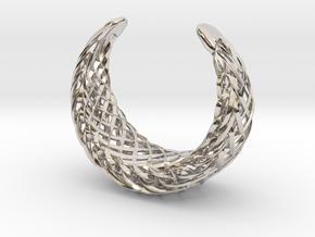 Echo.D bracelet in Rhodium Plated Brass