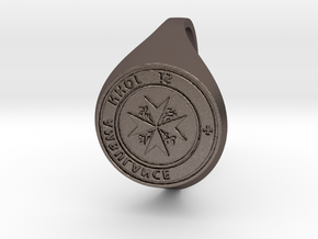 St. John Signet Ring reverse in Polished Bronzed Silver Steel
