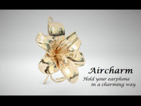 AirCharm Lily Flower - Left in 14k Gold Plated Brass
