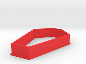Coffin Cookie Cutter in Red Processed Versatile Plastic