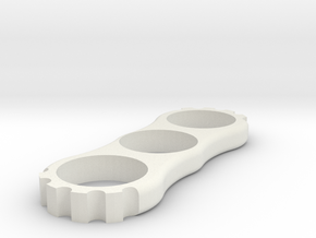 Cog Spinner in White Natural Versatile Plastic