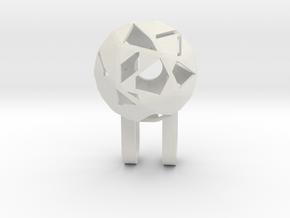 Tiny Phone Lamp - Diamond - S in White Natural Versatile Plastic