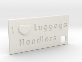 I Heart Luggage Handlers in White Natural Versatile Plastic