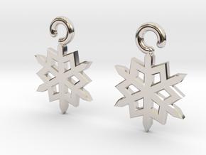 Snowflake Earrings in Platinum