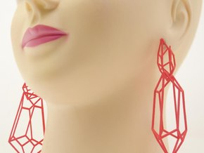 Auroraprimera earrings in Red Processed Versatile Plastic