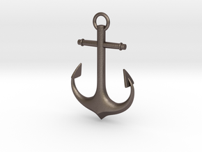 Anchor in Polished Bronzed Silver Steel