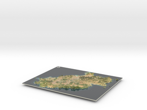 Ibiza Map, Spain in Glossy Full Color Sandstone