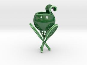 Tennis Ball Planter in Gloss Oribe Green Porcelain