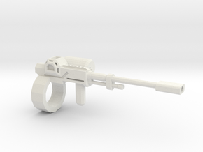 1:18 rail gun in White Natural Versatile Plastic