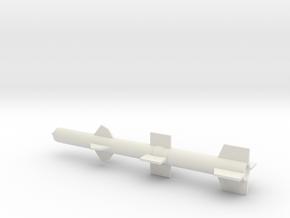 1/144 Scale Talos Missile in White Natural Versatile Plastic