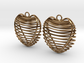 Heart cage in Natural Brass