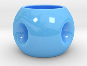 Coconut Cup  in Gloss Blue Porcelain