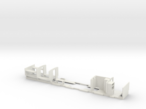 Camp Coach Partitions For Hornby Short Clerestory  in White Strong & Flexible