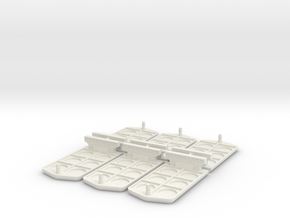 Boat miniatures for Container board game in White Natural Versatile Plastic