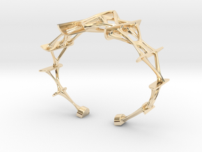 Synapse Bracelet in 14k Gold Plated Brass: Small