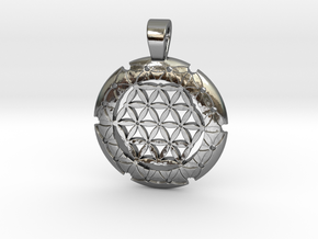 S Flower Of Life-Fleur De Vie in Polished Silver