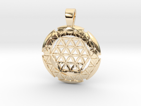 S Flower Of Life-Fleur De Vie in 14K Yellow Gold