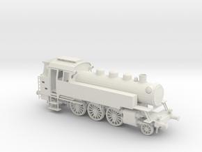 "LOV001 German Steam loco Br 64  ""Kriegslokomotive"" in White Natural Versatile Plastic"
