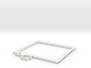 Lower Plate Screen - Game Boy Zero in White Natural Versatile Plastic