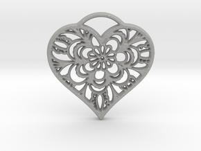 Heart Lace in Aluminum