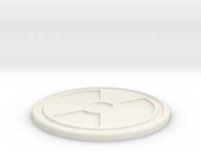 Rad Symbol Coaster in White Strong & Flexible