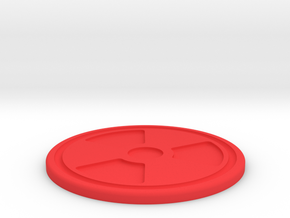 Rad Symbol Coaster in Red Processed Versatile Plastic