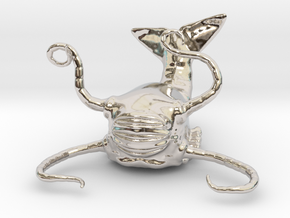 Aboleth Miniature in Rhodium Plated Brass: 1:60.96