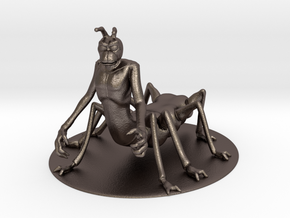 Vrusk Miniature in Polished Bronzed Silver Steel: 1:60.96