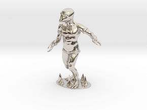 Crabman Miniature in Rhodium Plated Brass: 1:60.96