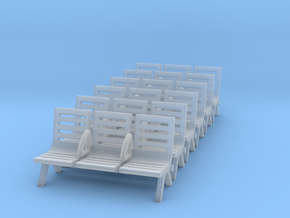 Modern Seat - Type 3 X 6 in Smoothest Fine Detail Plastic: 1:148